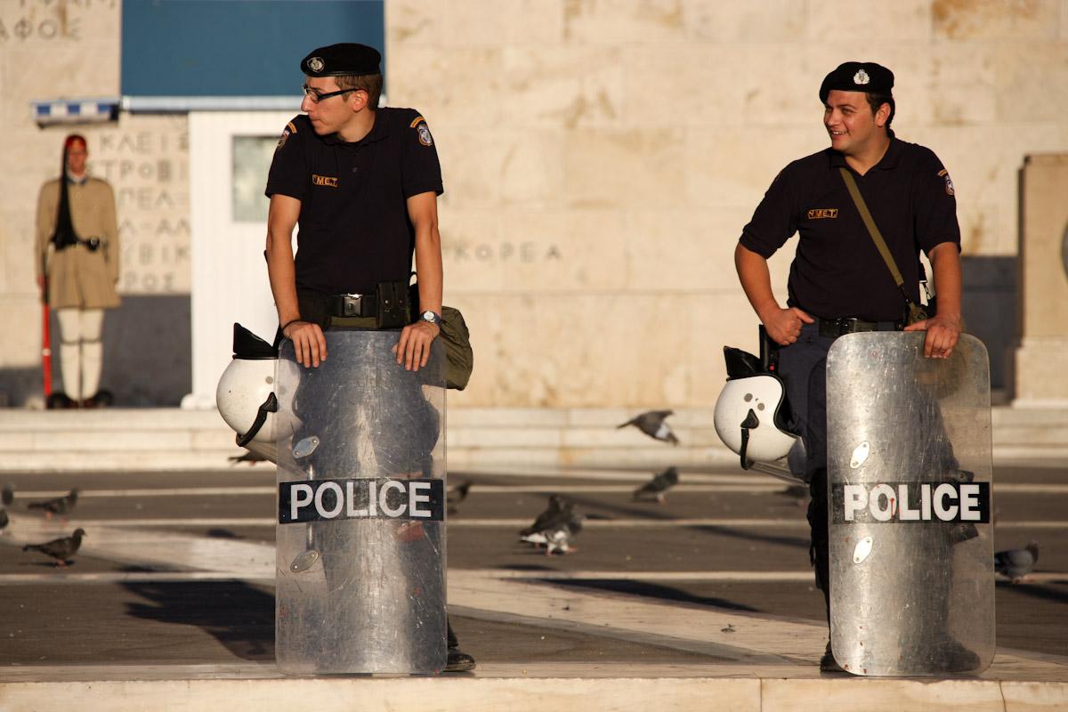 Η αστυνομία σε παράταξη