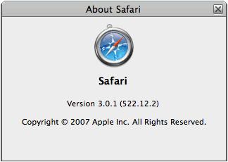 Safari 3.0.1