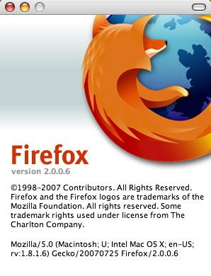 Firefox 2.0.0.6